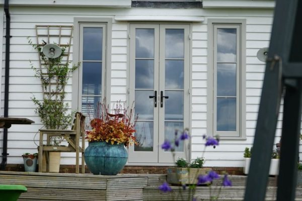 timber doors with glass