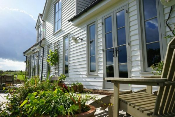 weather proof double glazed external wooden doors