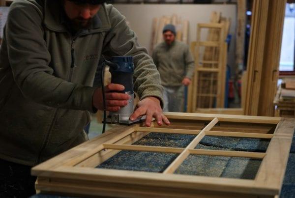 making a wooden window frame