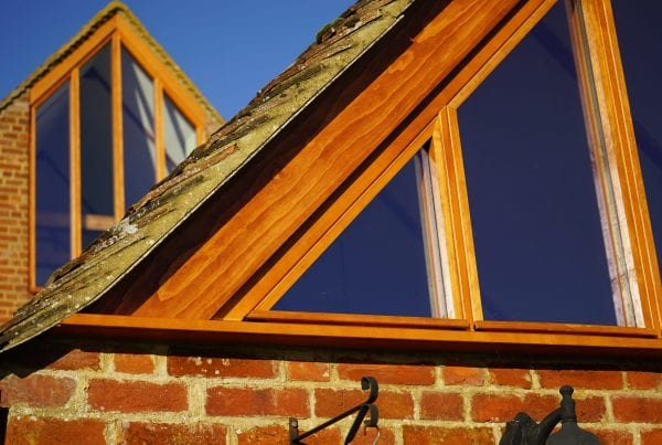 Factory finished timber casement windows